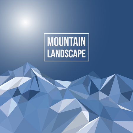everest: Vector background with mountains in polygonal style Illustration