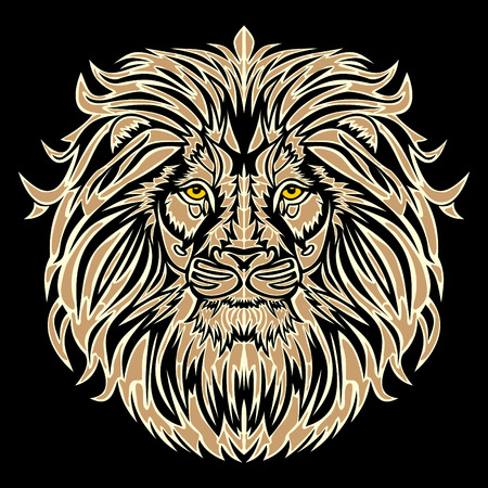 lion head vector illustration Vektorové ilustrace