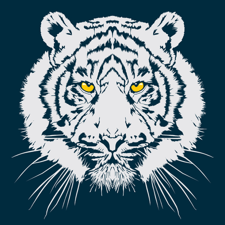 Tiger head vector illustration Иллюстрация
