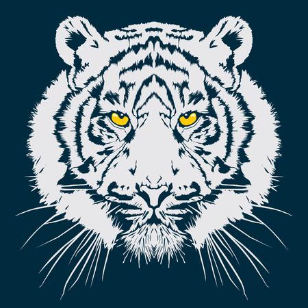 Tiger head vector illustration Vettoriali