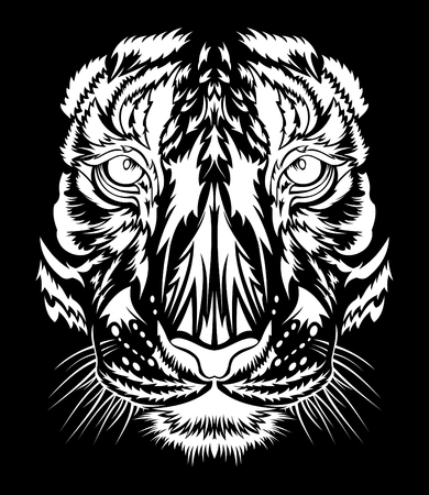 Tiger head vector illustration Illustration