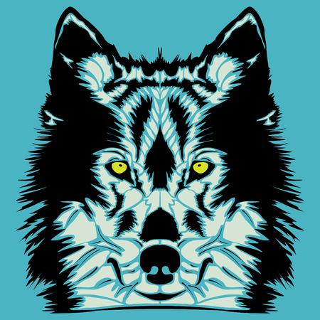 lobo feroz: Lobo ilustración vectorial cabeza Vectores