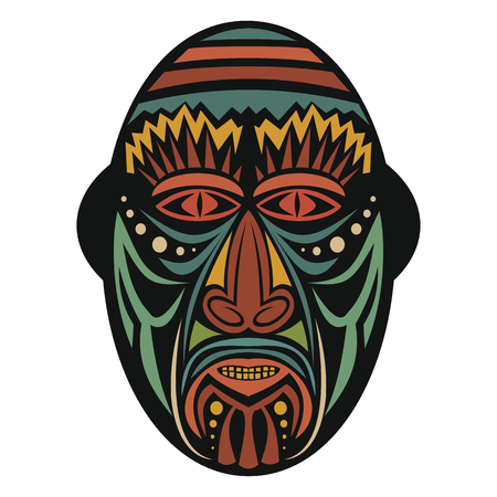 cult: African Mask on a white background