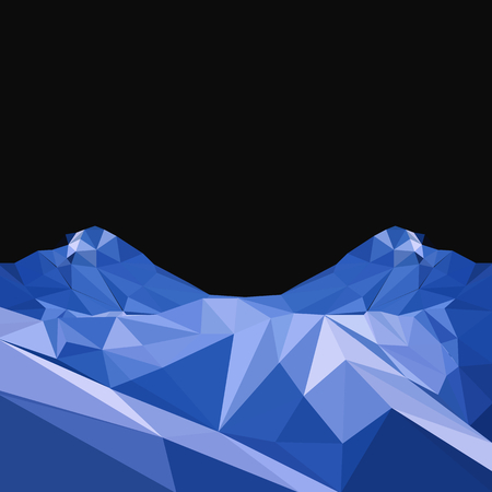 Vector background with mountains in polygonal style