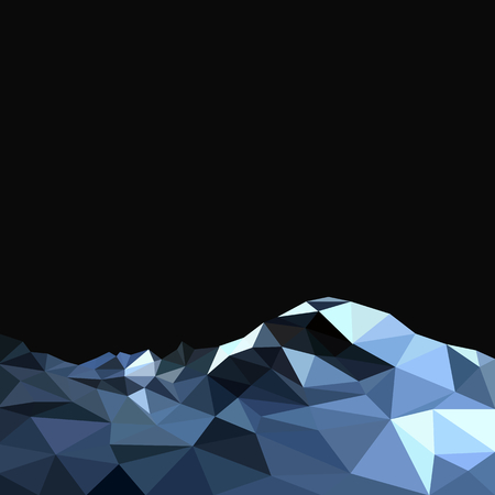 ridge: Vector background with mountains in polygonal style Illustration