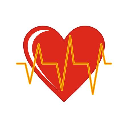 Heart cartoon icon isolated on white background. Vector illustration