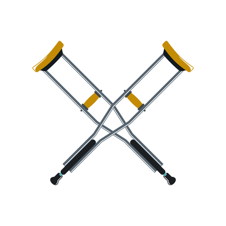 Crutch cartoon icon isolated on white background. Vector illustration Vector Illustration