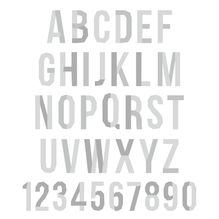 paper graphic: Paper Graphic Alphabet Set for your design