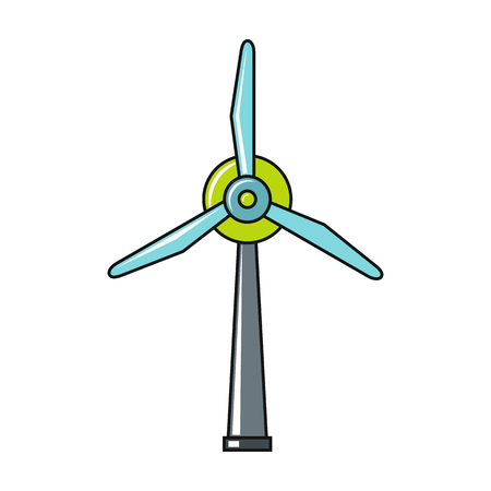 rotor: Vector windmil icon. Flat windmil icon. Flat design vector illustration for web banner, web and mobile, infographics. Illustration