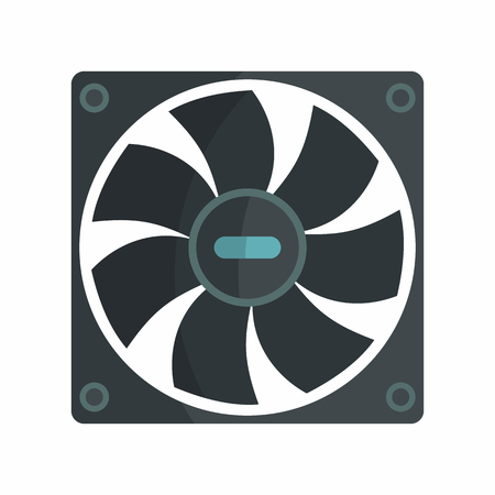 hardware repair: Flat hardware cooler icon for repair service design. Vector illustration
