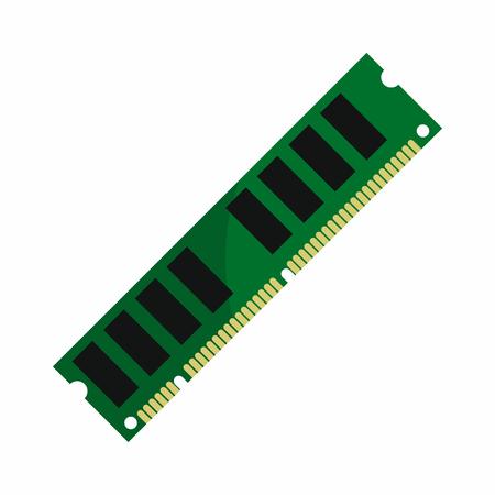 hardware repair: Flat hardware ram icon for repair service design. Vector illustration