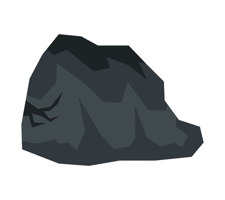 Cartoon stone in white background. Vector illustration Vettoriali