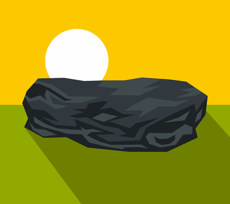 large group of object: Cartoon stone with dark shadow. Vector illustration Illustration