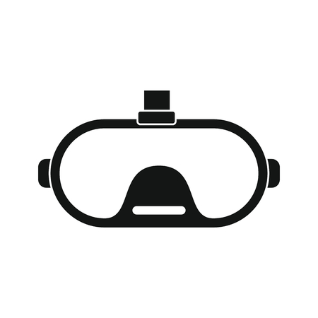 users video: Virtual reality glasses in silhouette style. Vector illustration