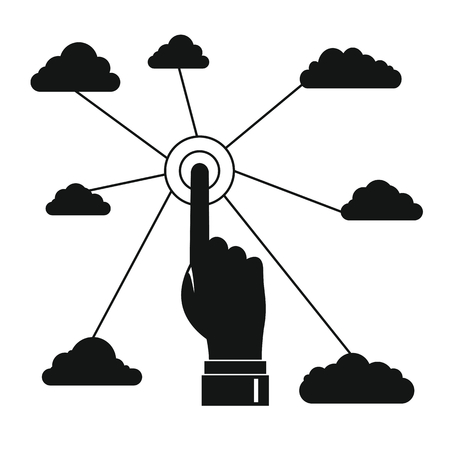 Cloud technologies illustration for business design. Elements for illustration, infographics, logos and banners. Illustration