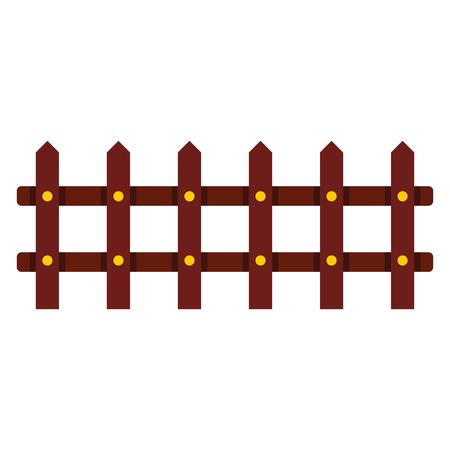 agro: Cartoon flat fence isolated on white background. element for agro design. Illustration