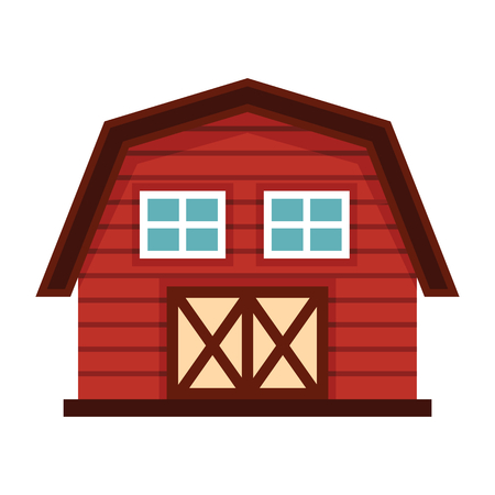 agro: Farm house in cartoon style isolated on white background. Farm agro building elements for you design Illustration