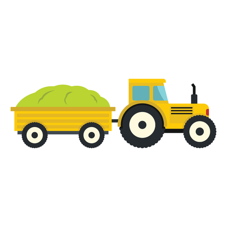 agro: Tractor in cartoon style isolatedd on white background. elements for agro farm design