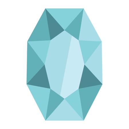 Cartoon realistic gems jewels diamond brilliant vector. Gemstone and crystal, precious glass elements illustration