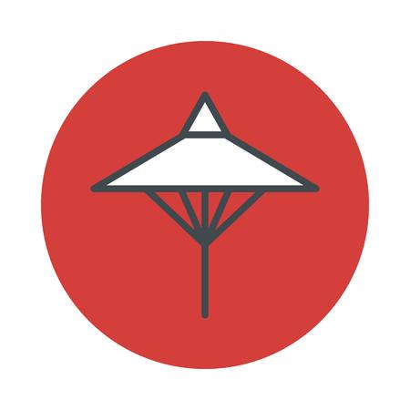 umbrela: Japan umbrela icon isolated on white background. Vector illustration Illustration