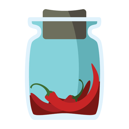 peppery: Jars with spices in cartoon flat style isolated on white background vector stock ilustration element for infographic, banner and spice design
