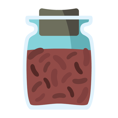 pimento: Jars with spices in cartoon flat style isolated on white background vector stock ilustration element for infographic, banner and spice design
