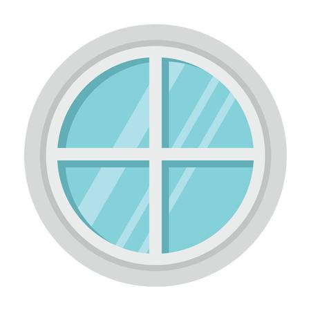 Flat architecture window icon isolated on white background. Vector illustration. Element rof architecture design