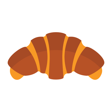 Croissant colorful bakery product icon