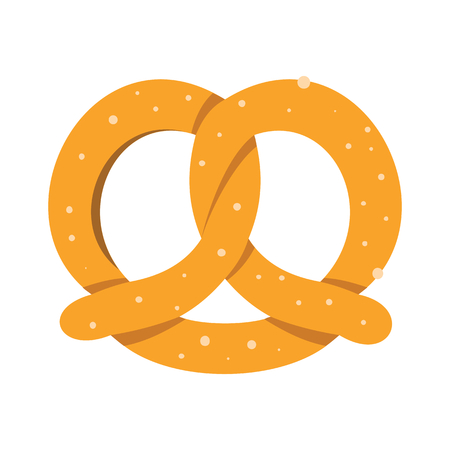 Bread colorful bakery product icon