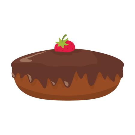 Cake colorful bakery product icon Illustration