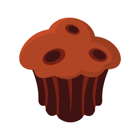 Brownie colorful bakery product icon