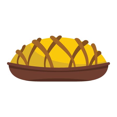 Pie colorful bakery product icon