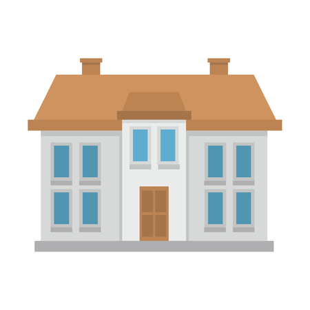Colorful Flat Residential House. Vector illustration Illustration