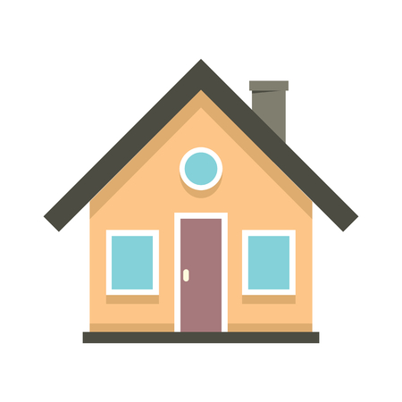 Colorful Flat Residential House. Vector illustration Vectores