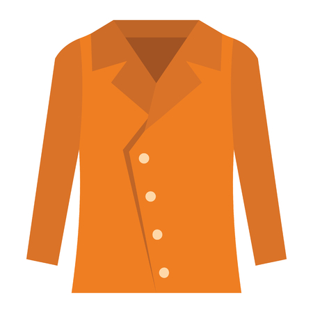 hangers: Jacket fashion clothes for modern man. Flat icon for web vector illustration