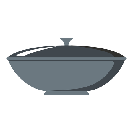 made in china: Dish cartoon icon. Kitchen tools, cookware and kitchenware vector illustration for you kitchen design Illustration