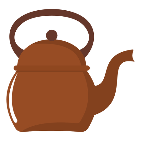 Kettle cartoon icon. Kitchen tools, cookware and kitchenware vector illustration for you kitchen design