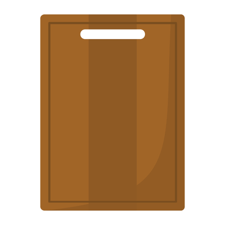 Cutting board cartoon icon. Kitchen tool, cookware and kitchenware vector illustration for you kitchen Illustration