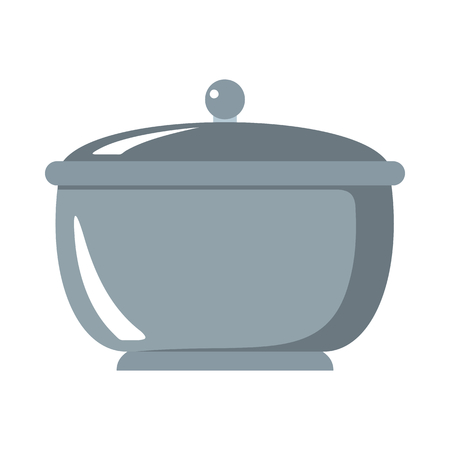 Saucepan cartoon icon. Kitchen tools, cookware and kitchenware illustration for you kitchen design