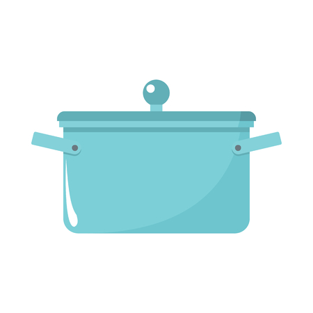 made in china: Saucepan cartoon icon. Kitchen tools, cookware and kitchenware illustration for you kitchen design