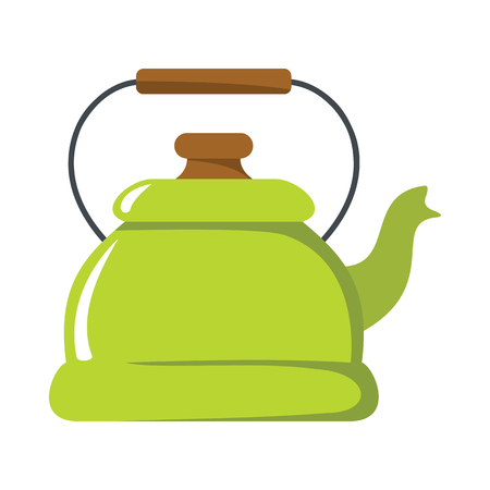 Kettle cartoon icon. Kitchen tools, cookware and kitchenware illustration for you kitchen design