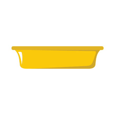Plate dish cartoon icon. Kitchen tools, cookware and kitchenware vector illustration for you kitchen design