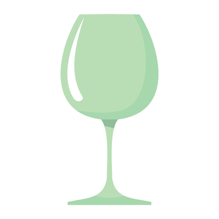 dinner party: Wineglass dish cartoon icon. Kitchen tool, cookware and kitchenware vector illustration for you kitchen design
