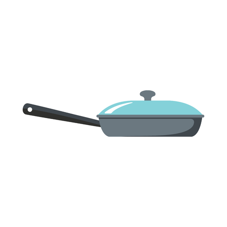 Pan dish cartoon icon. Kitchen tool, cookware and kitchenware vector illustration for you kitchen design Illustration