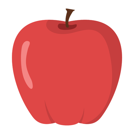 Red apple design juicy fresh fruit icon template. Raw apple. Eco bio health food Çizim