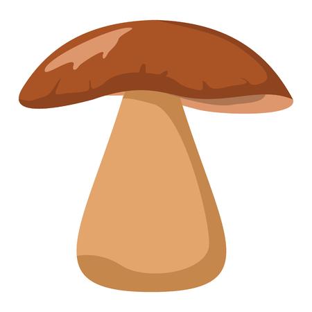 morel: Mushroom with brown hat on white background element for mushroom design and web Illustration