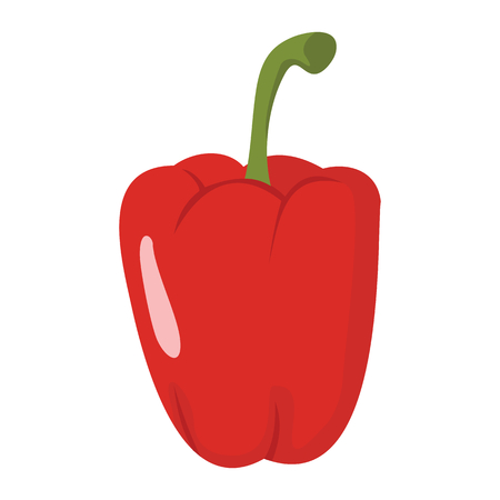 Paprika icon in cartoon flat style isolated object vegetable organic eco bio product from the farm vector illustration. Paprika object for vegetarian