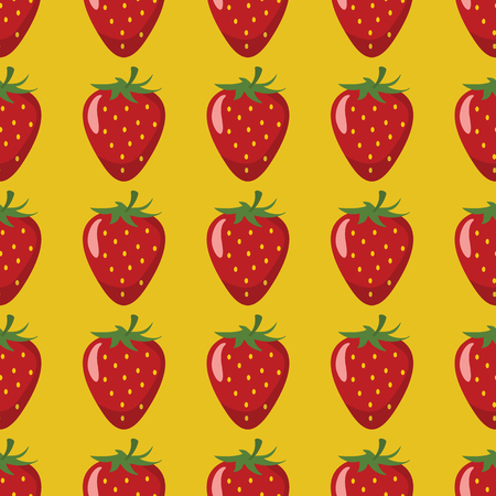Strawberry Vector Seamless Pattern Cartoon Fruit Stylish Texture Mesmerizing Strawberry Pattern