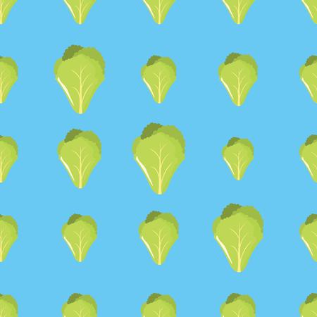 Salad vector seamless pattern. Cartoon vegetable stylish texture. Repeating salad vegetables seamless pattern background for eco bio vegetables design and web