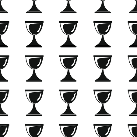repetition: Awards sport winner black simple silhouette cup vector seamless pattern. Silhouette stylish texture. Repeating awards seamless pattern background for winner sport design and web